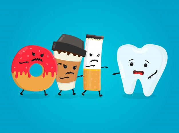 Los enemigos de los dientes.
